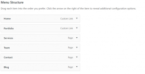 WordPress Menu Structure