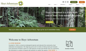 Hoyt Arboretum: WordPress Migration with Custom Design and Integration